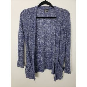 Sparkle & Fade Open Front Thin Knit Cardigan
